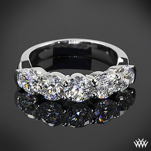 5 Stone Shared G Diamond Wedding Ring Whiteflash