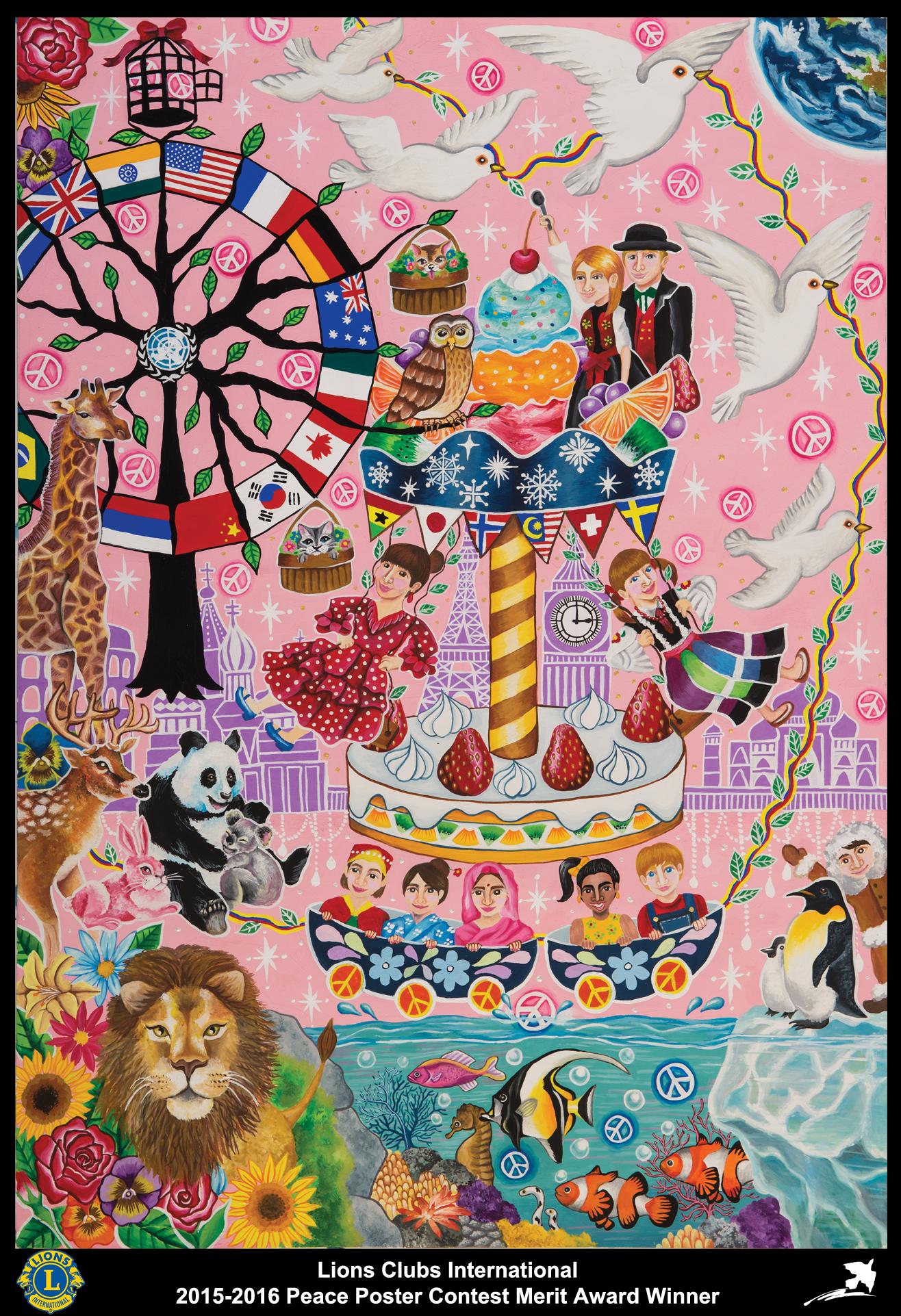 2015-16 Merit Award Winner  Kiyoka Narumi 13 years old Japan  Sponsored by Hakodate Hokuto Lions Club #creativeartsfor2-3yearolds