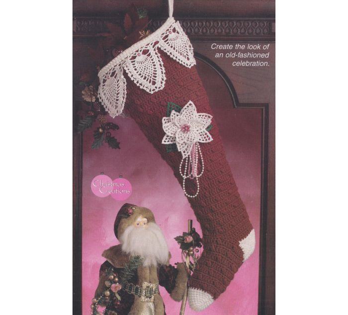 Christmas Stocking Crochet Pattern  Victorian by PaperButtercup