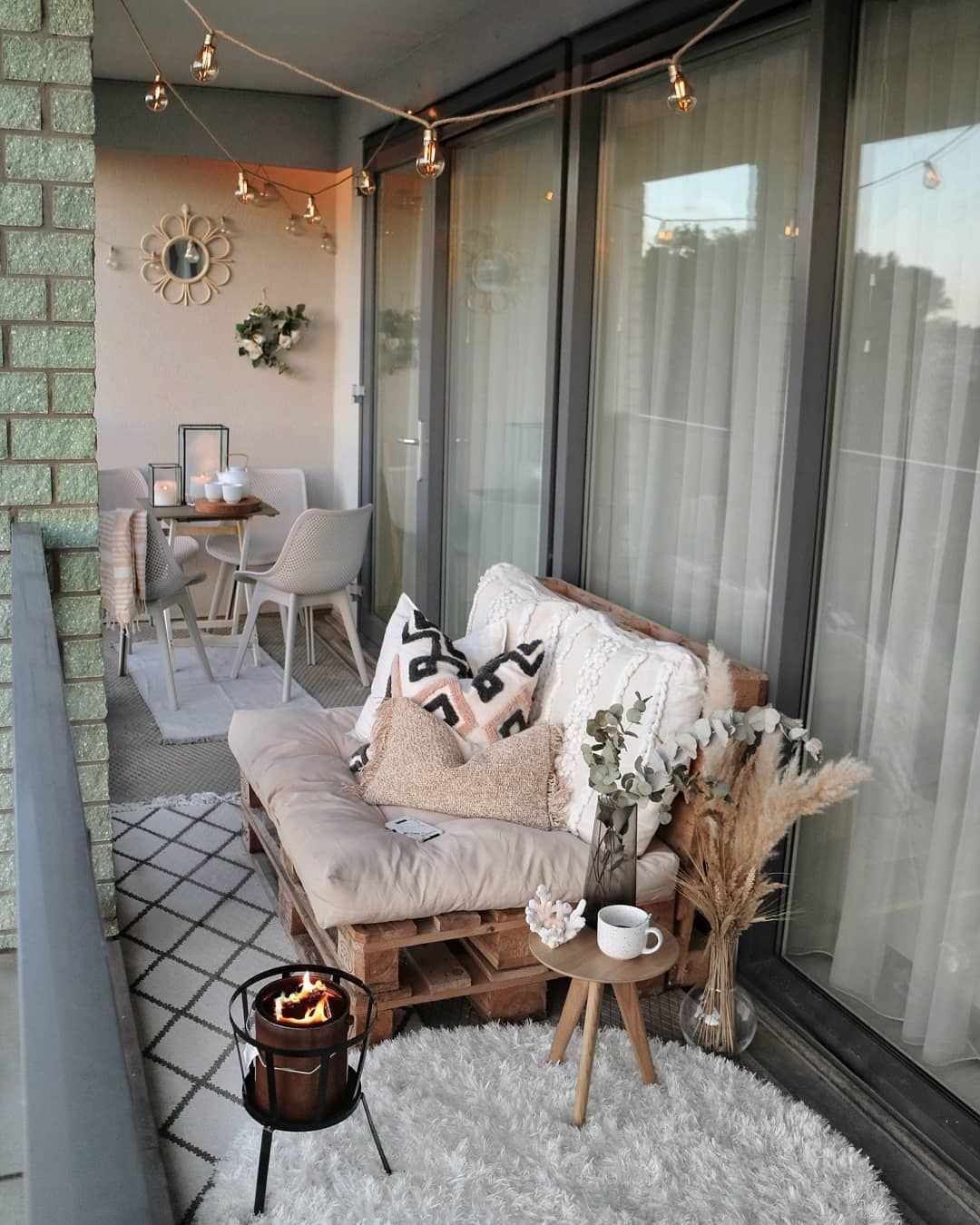 Photo of 🌼B a l c o n y❤ I finally had the time to style our balcony again! The weat…