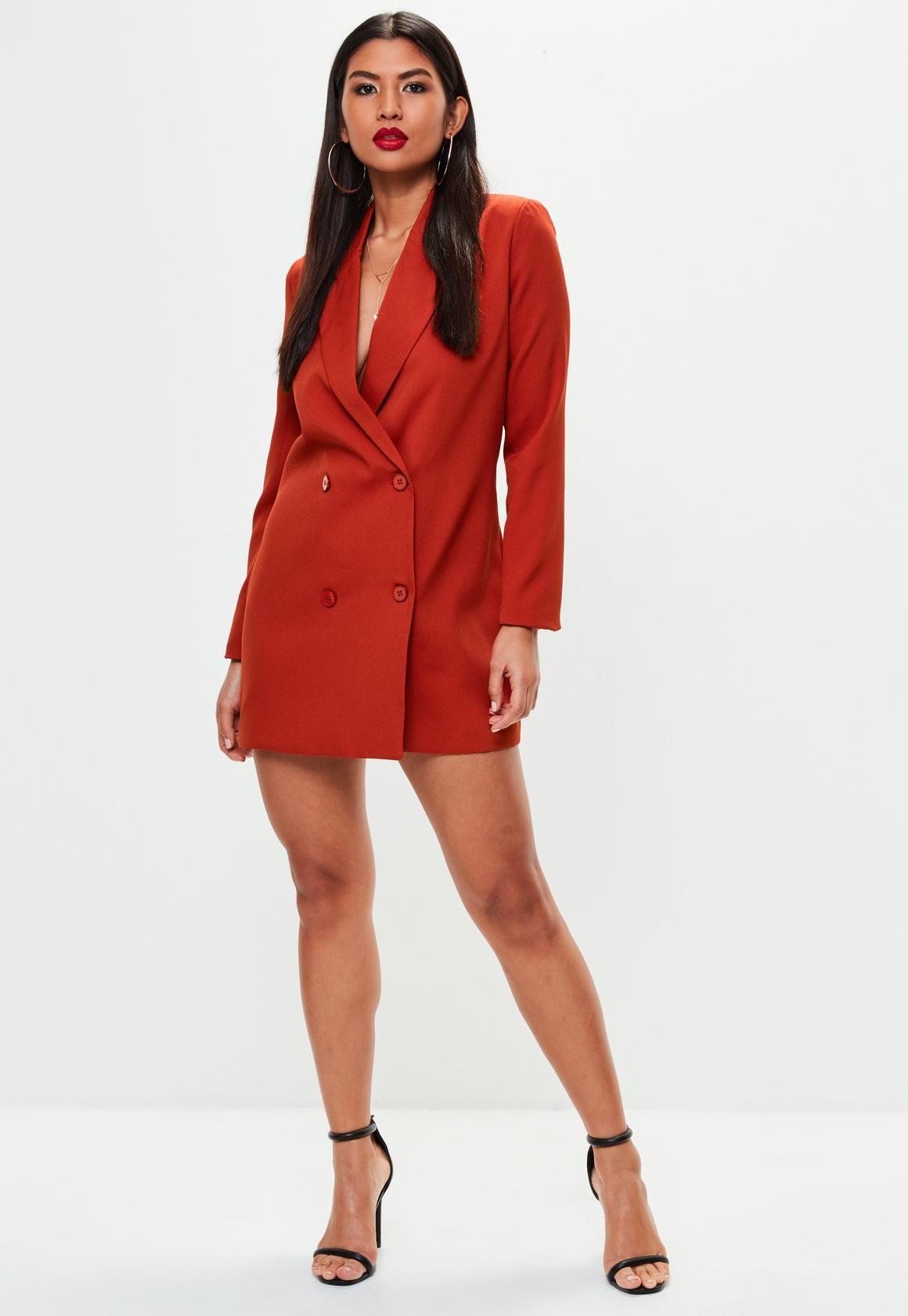 592342318533 Orange Crepe Blazer Dress in 2019 | Sugar, Spice & Everthing Nice ...