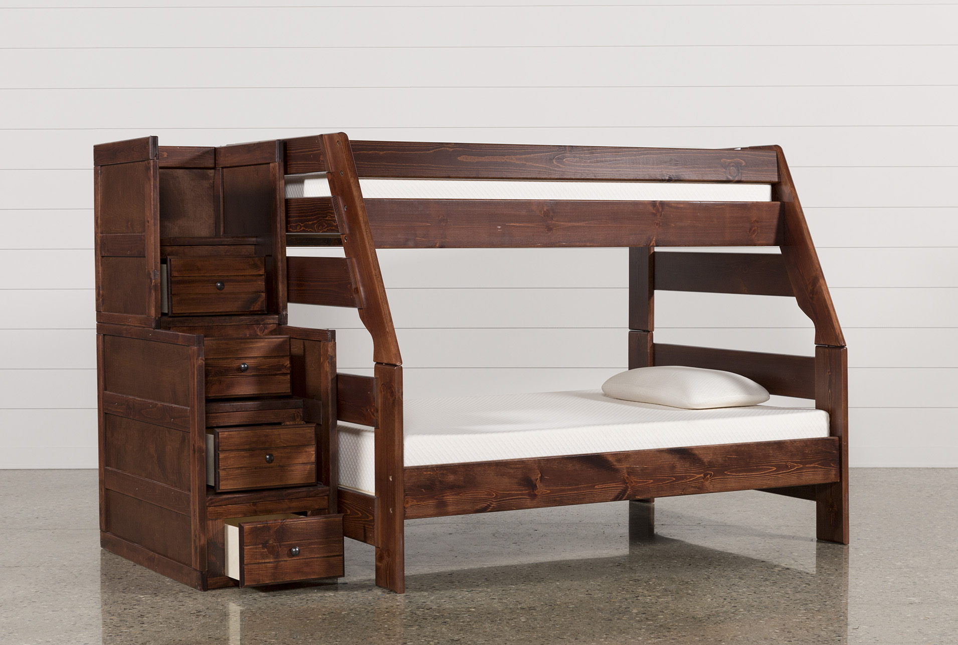 Sedona Twin Over Full Bunk Bed With Stairway Chest in 2020