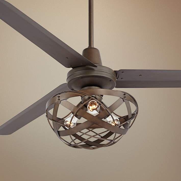 60 Casa Vieja Turbina Oil Rubbed Bronze Ceiling Fan U4514 5n364 91833 Lamps Plus