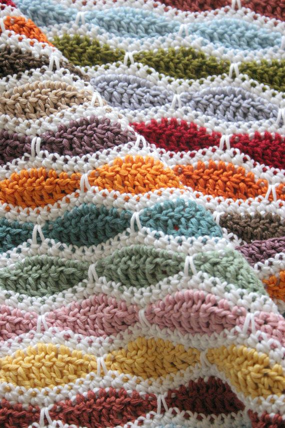 Crochet Patterns Beginner Blanket Lap Afghan Nursery Decor