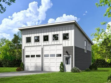Modern 2-Car Garage Plan, 062G-0040 | Dream Little House ...