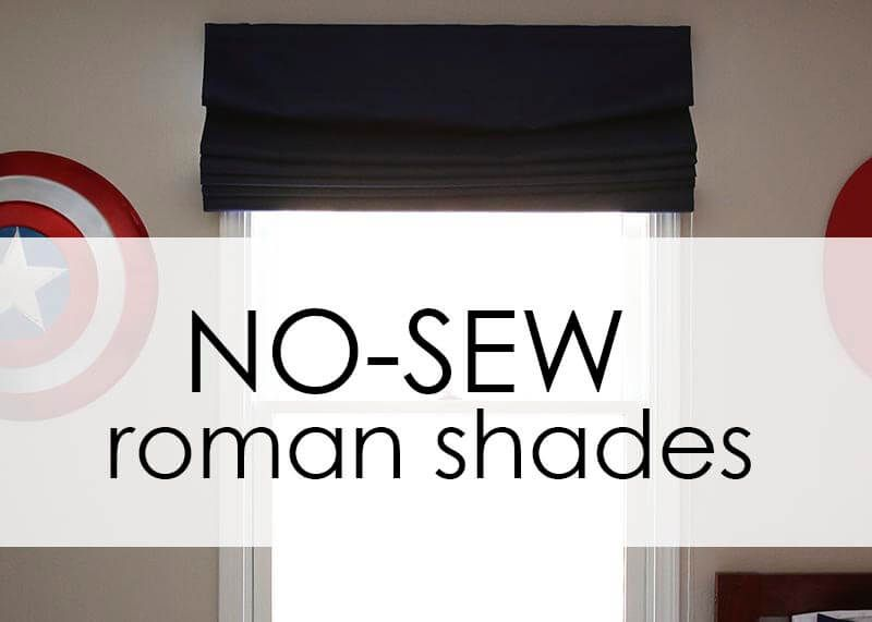 How To Make Inexpensive No Sew Roman Shades Roman Shades Diy