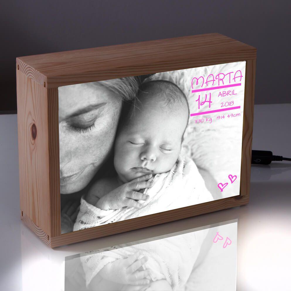 Kitkasa Caja De Luz Para Recien Nacido Lampu Bingkai