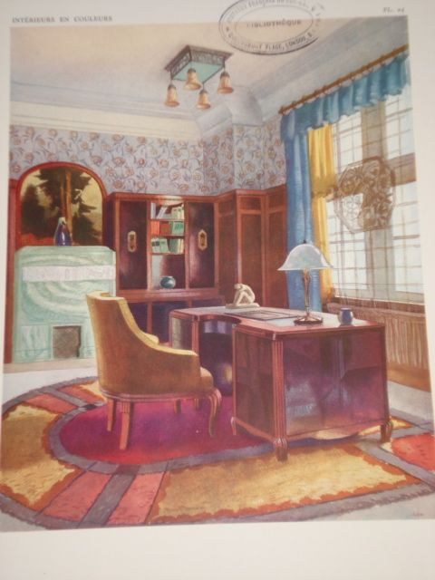 1924 Interior Illustration 1920s Home Decor 1920s Decor Eclectic Interior