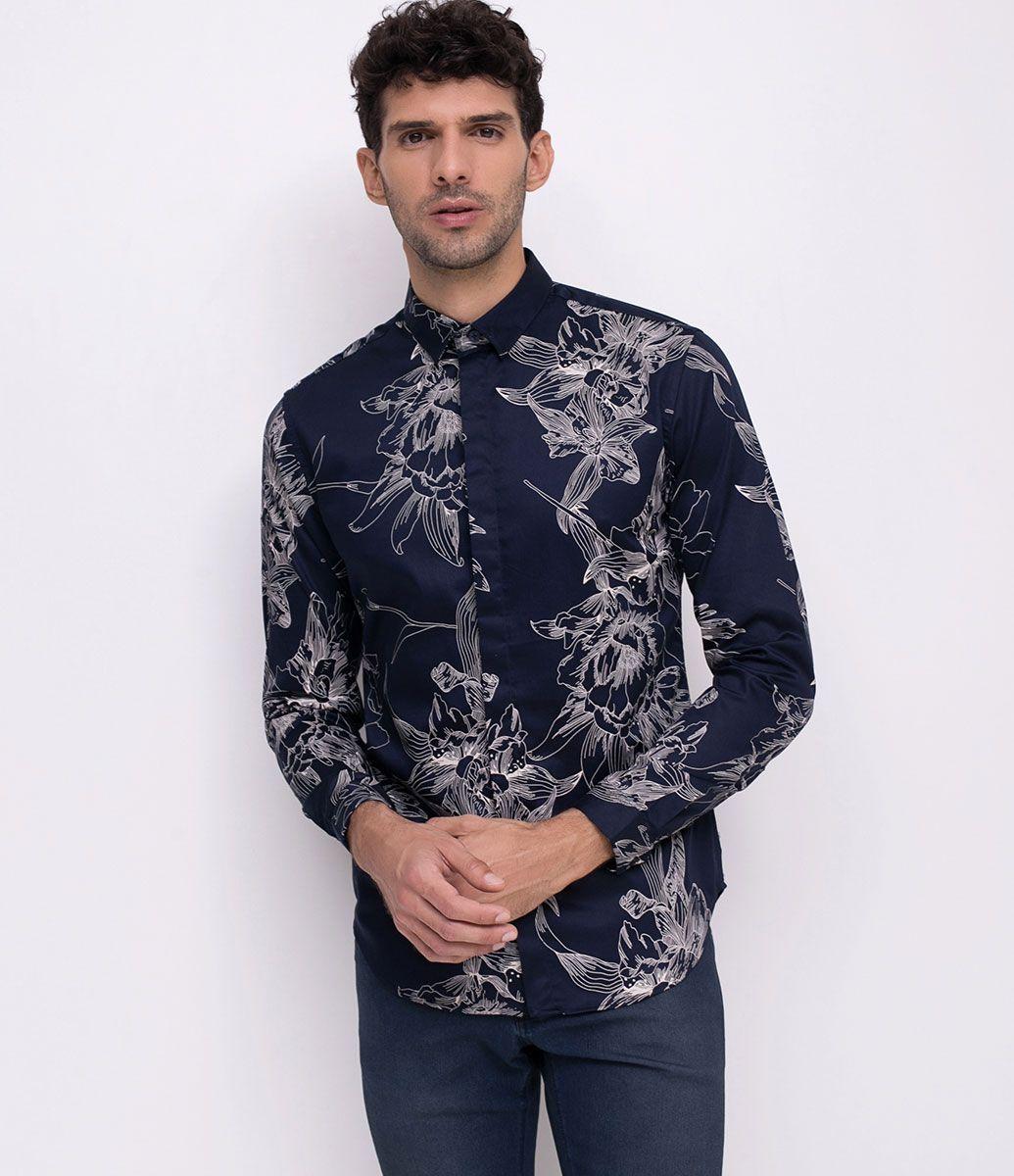 4ed12cf27a Camisa masculina Manga longa Estampada Marca  Request Tecido  algodão.  poliéster Composição  100