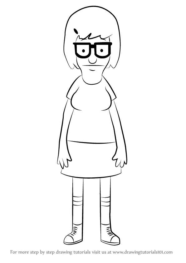 How to Draw Tina Belcher from Bob's Burgers ...