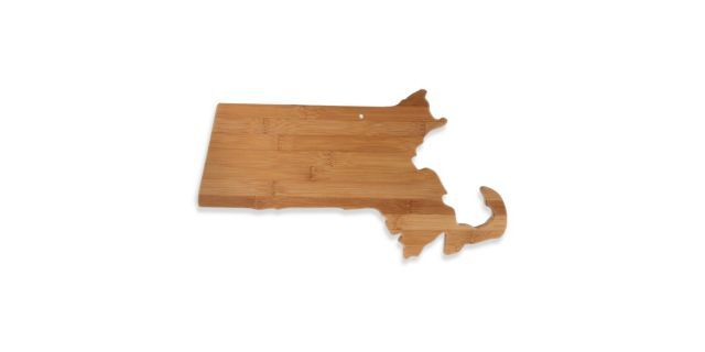 Totally Bamboo Massachusetts State Shaped Cutting/Serving Board