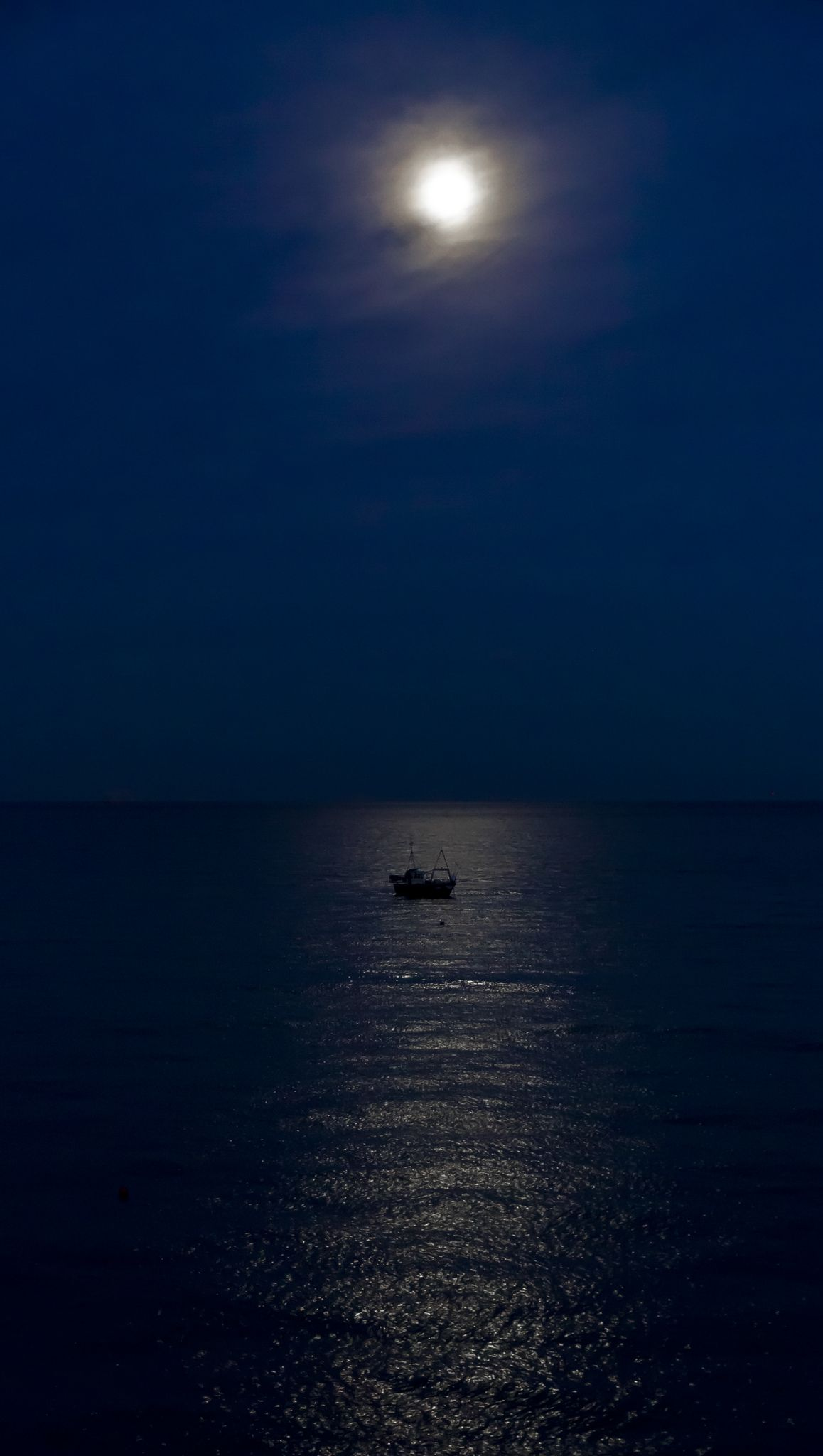 Fishing Boat by Moonlight | Selsey, West Sussex