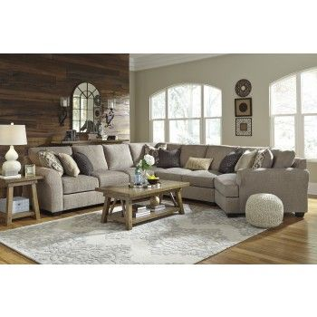 Pantomine Driftwood 5 Pc Raf Chaise Sectional By Benchcraft Get Your Pantomine Drif Furniture Layout Living Room Decor Traditional Cheap Living Room Sets