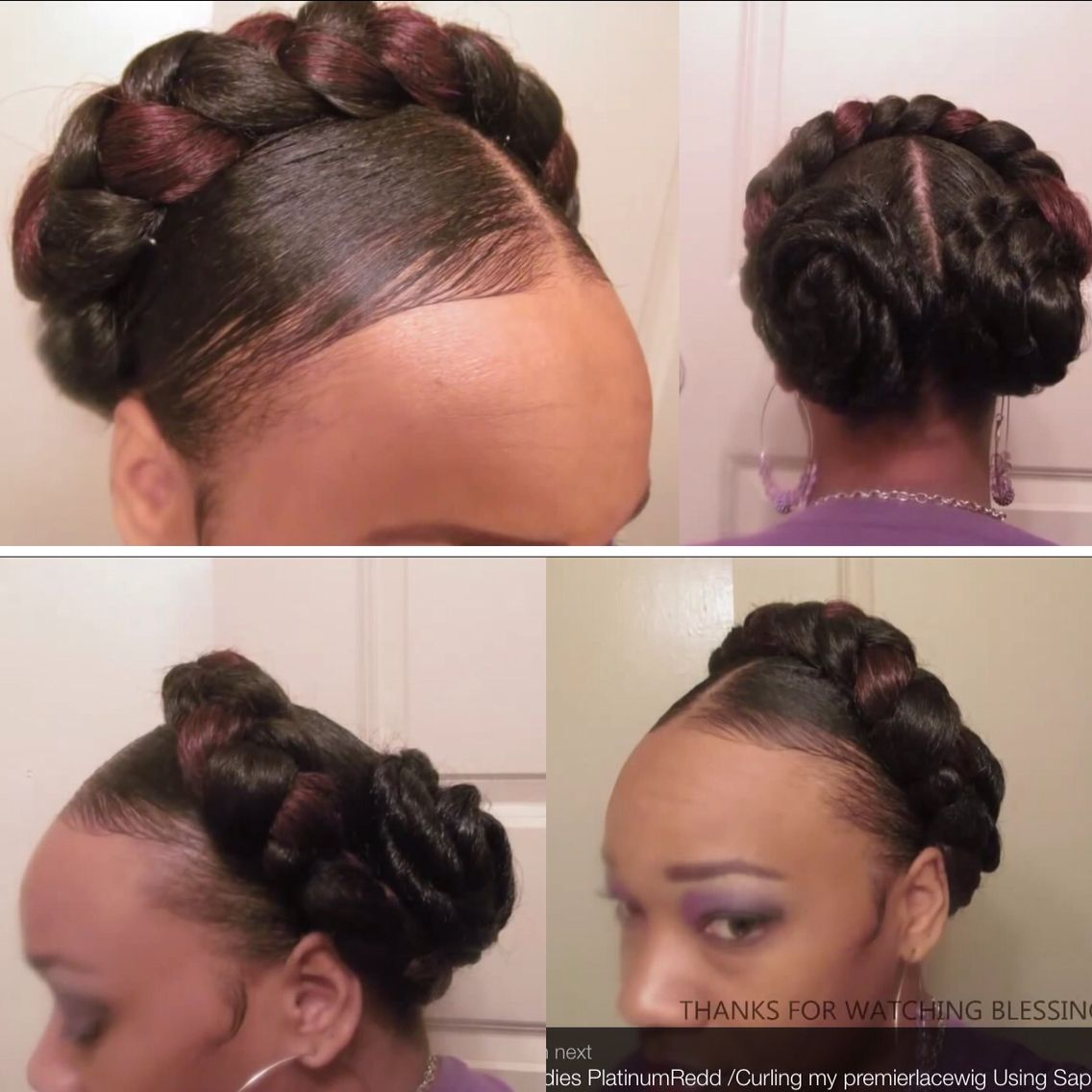 halo hairstyle from youtube: candypoo1100 | afro natural