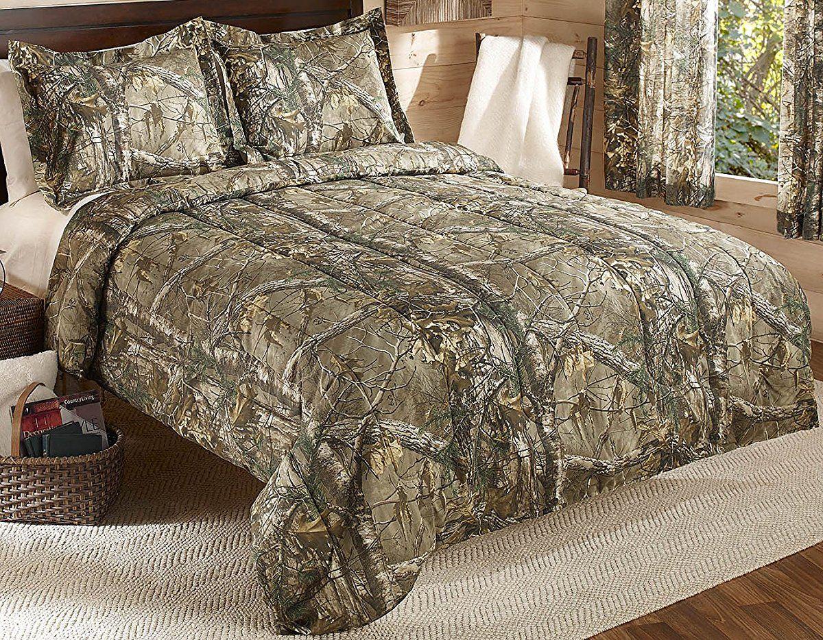 Realtree Xtra Mini Comforter Set Queen Tan Camo Camo Bedding Comforters Queen Comforter Sets