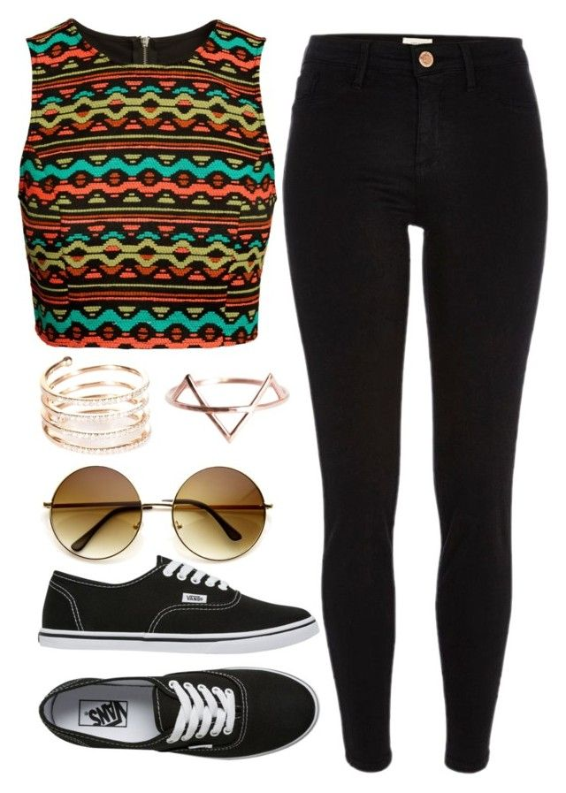 """""""Untitled #738"""" by mihai-theodora ❤ liked on Polyvore featuring River Island, H&M, Vans, STONE, women's clothing, women, female, woman, misses and juniors"""