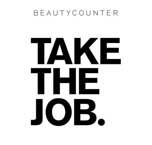 Take The Job. Join My #Beautycounter Team! beautycounter ... Beautycounter Logo