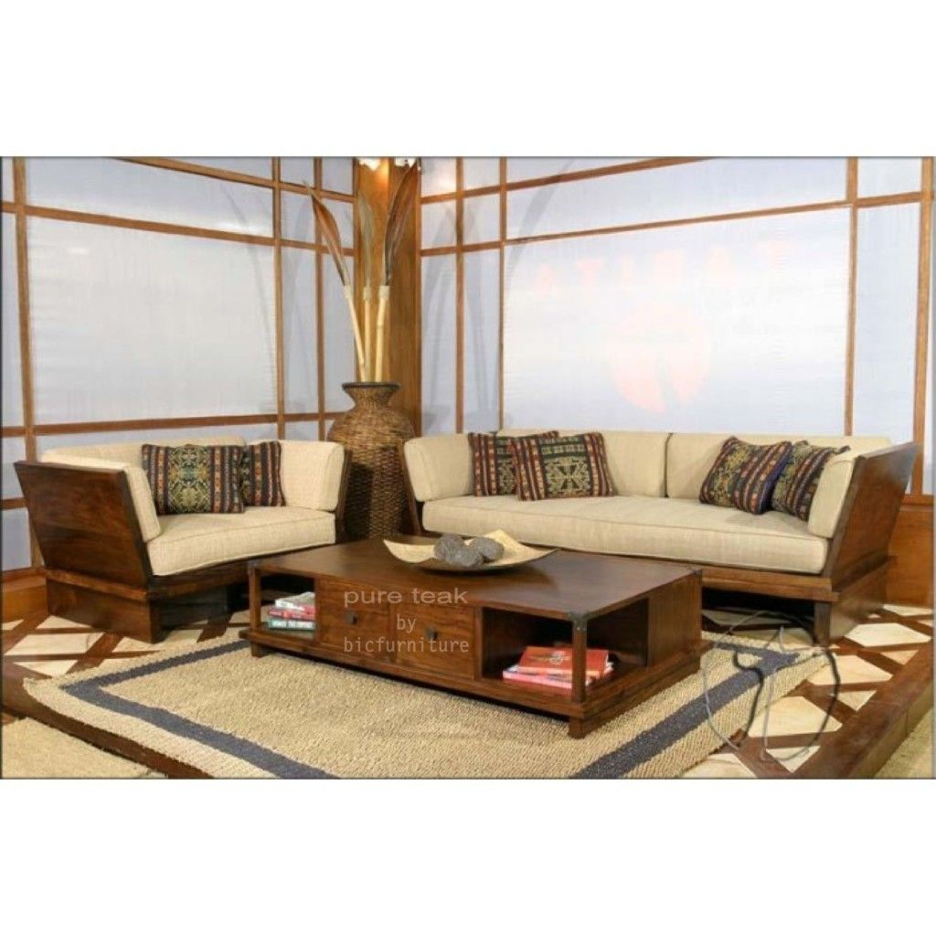 Solid Handle Sofa Set Manufactured In Teak Mumbai Store Bic Wooden Sofa Designs Wooden Living Room Wooden Sofa Set