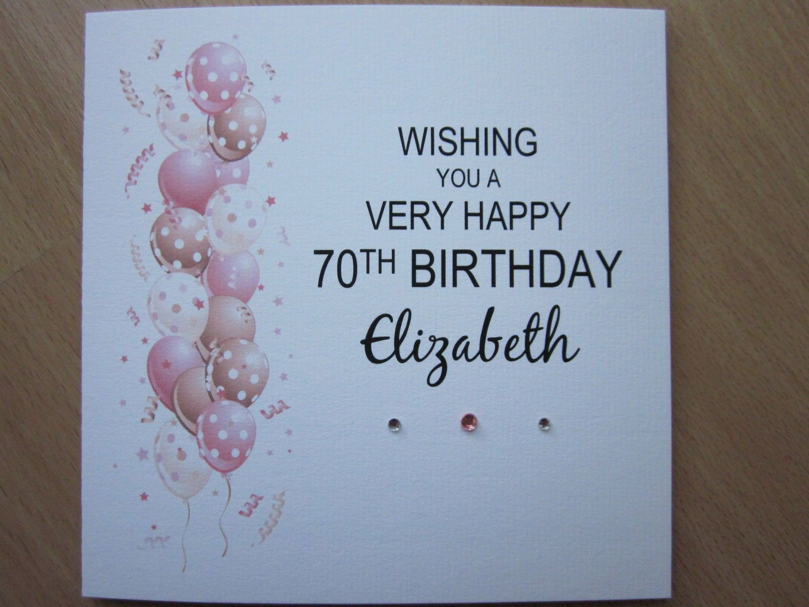 Personalised Handmade Balloons Birthday Card 30th 40th 50th