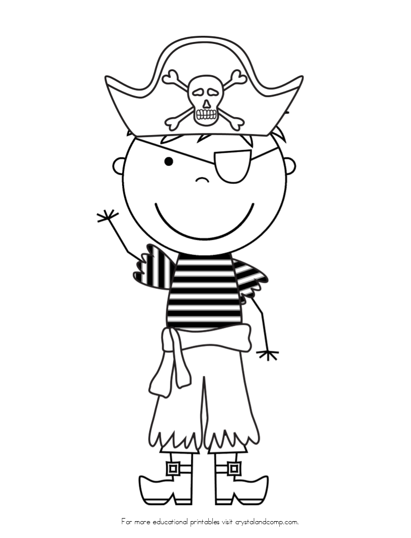 Pirate color pages for kids kids colouring pirate for Pirate coloring pages for preschool