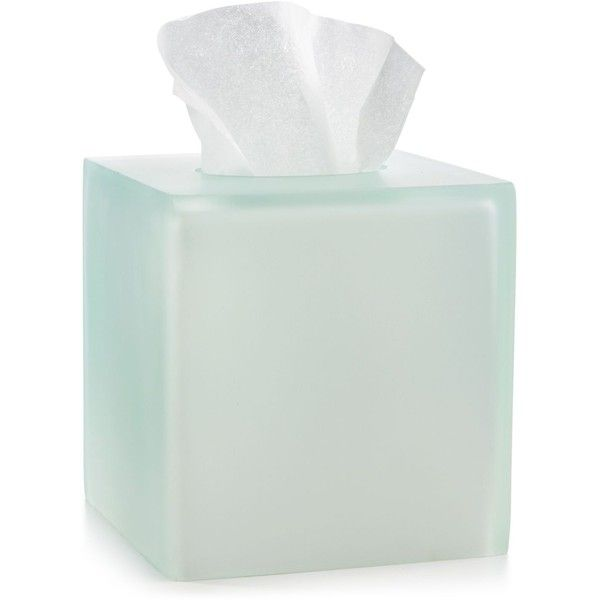 Martha Stewart Collection Frosted Resin Tissue Box, ($30) ❤ liked