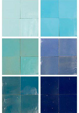Mélange Zellige en bleu Interior Design Pinterest Interiors