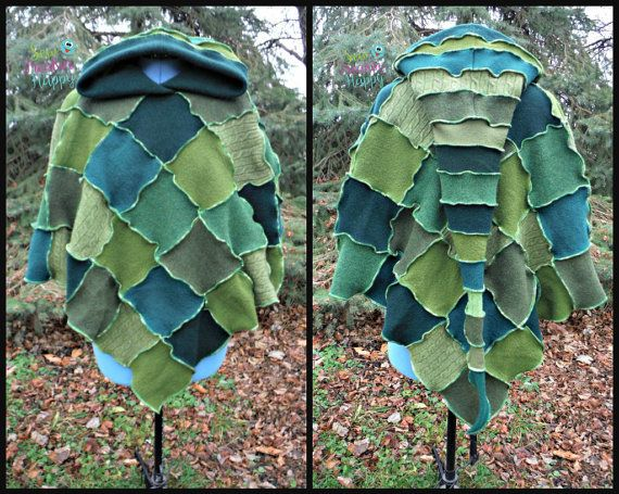 Poncho & Arm Warmers made from Recycled Sweaters. Cape, Shawl ...