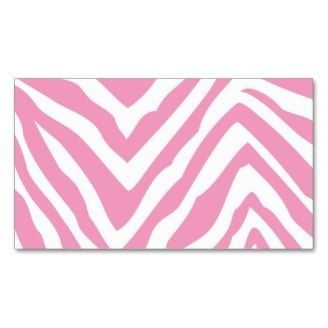 Pink Zebra Blank Templates Pink Zebra Print Blank Business Card Template Blank Business Cards Pink Zebra Party Business Card Template