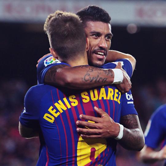After Team's Scoring His Celebrates Denis With Paulinho Suarez drsQCth
