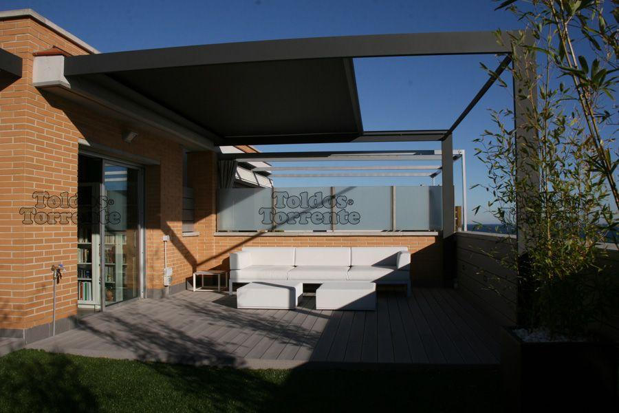 Toldos para p rgolas de veranda atico elche pinterest for Toldos para patios