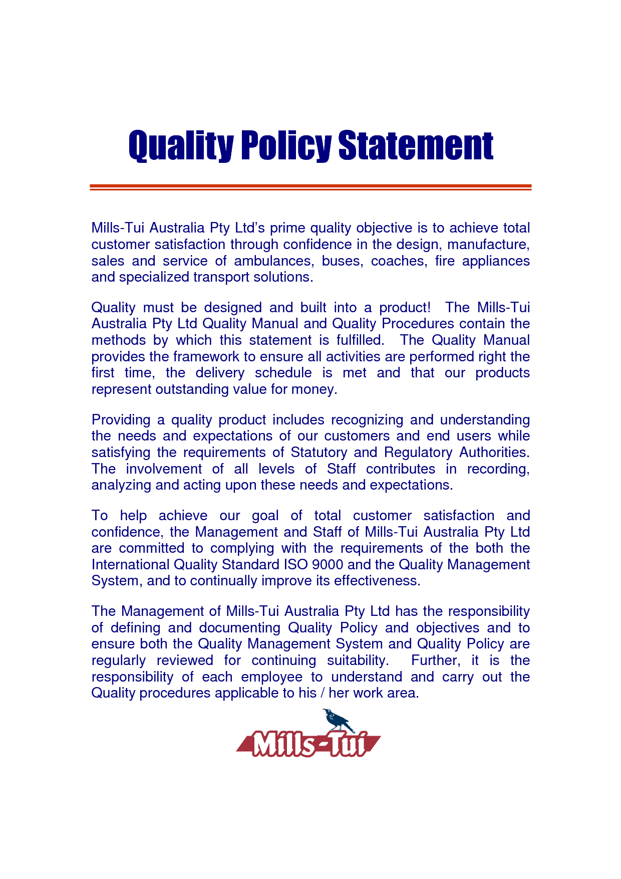Quality Policy Template. quality procedure template excel download ...