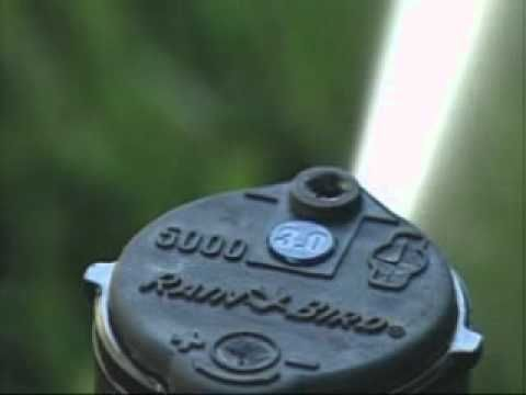Video: How to adjust the radius on Rain Bird 3500, 5000