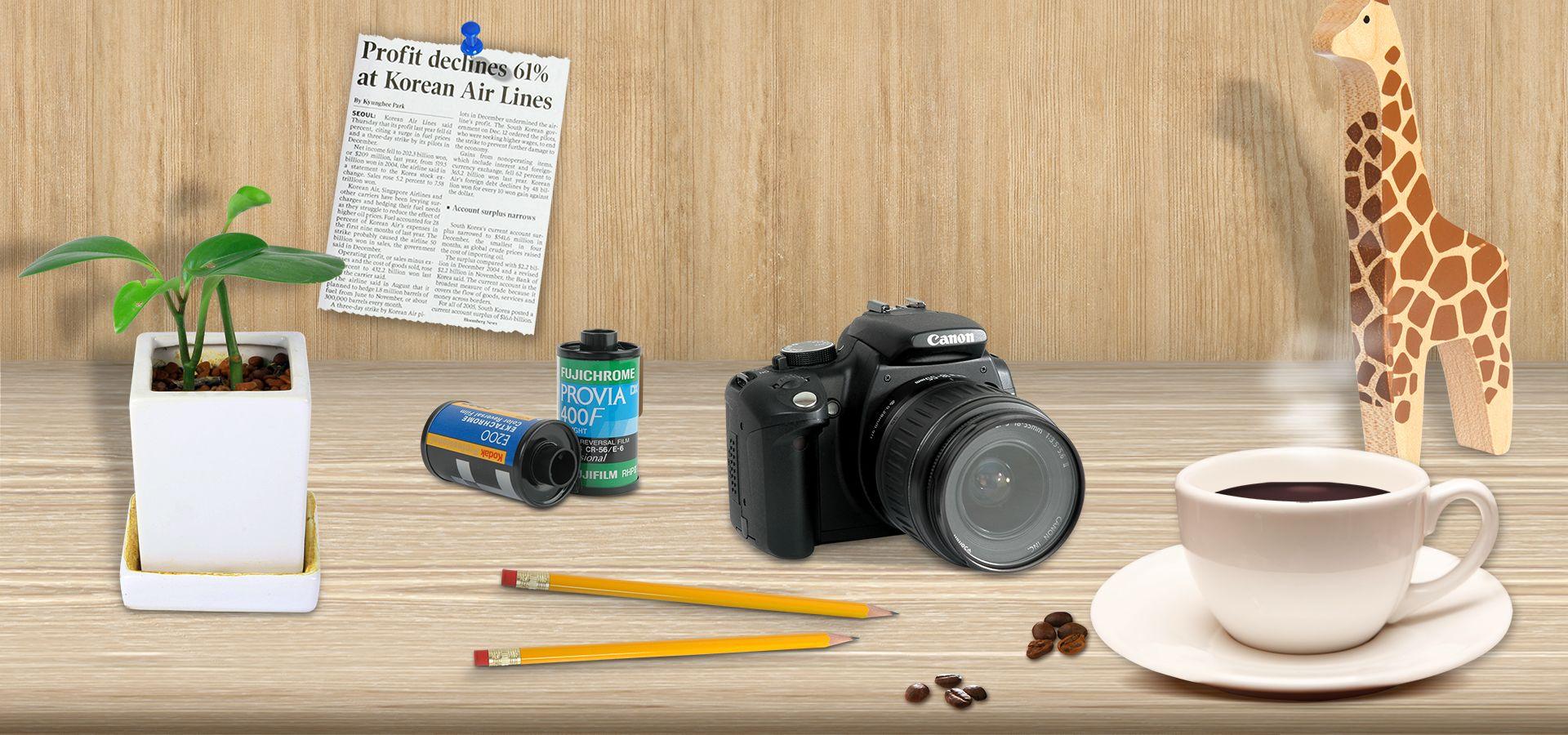يؤدي وعاء القهوة اللون كاميرا اللعب ملصق شعار Colour Camera Coffee Toy Literature Art