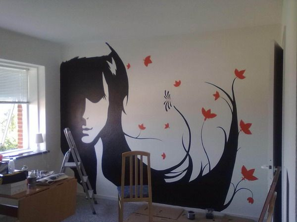 Silhouette Wall Murals Art Artistic Of Contemporary Mural Decoration Ideas