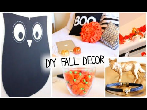 DIY Fall  Halloween Room Decor + Ways to Decorate! 2014 - YouTube - ways to decorate for halloween
