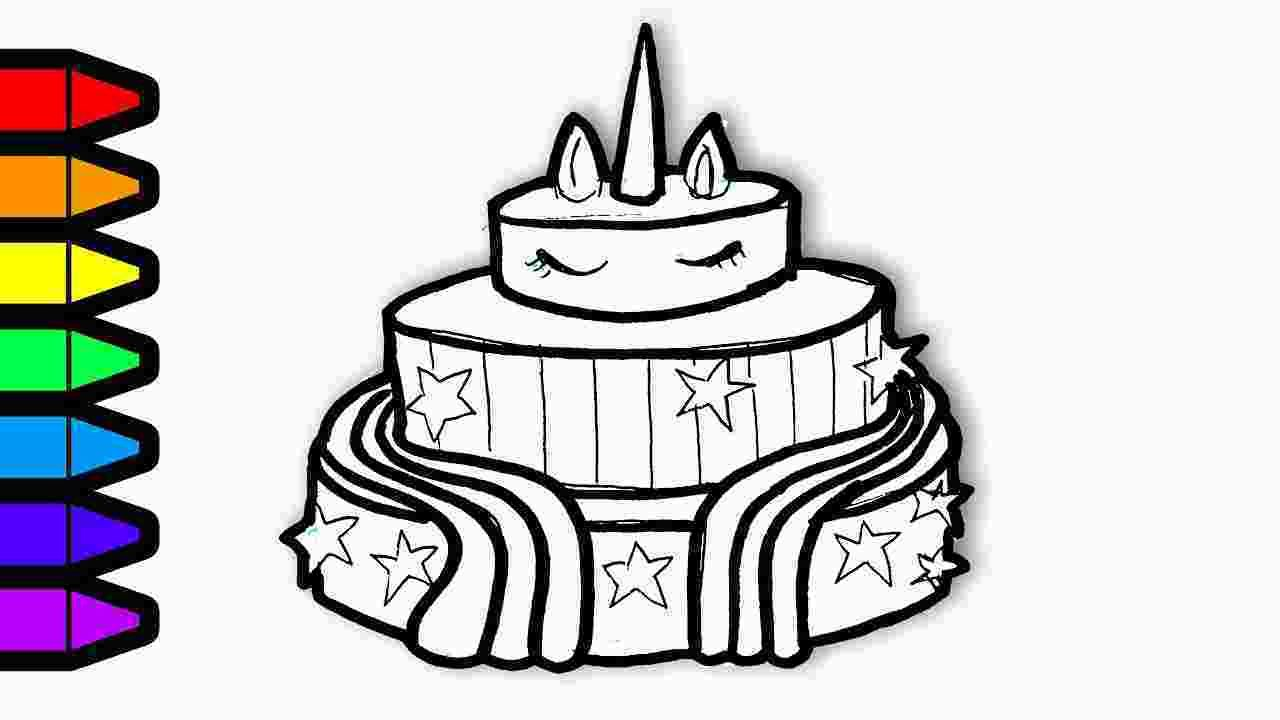 Kawaii Cake Coloring Page Drawing And Coloring Unicorn Cake Colouring Page Art For 168100 In 2020 Birthday Coloring Pages Unicorn Coloring Pages Coloring Pages