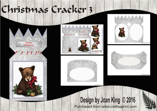 Christmas Cracker 3 By Joan King This Mini Kit Contains The Main Christmas Cracker Card Plus Decoupage I Christmas Crackers Printable Crafts Christmas Download