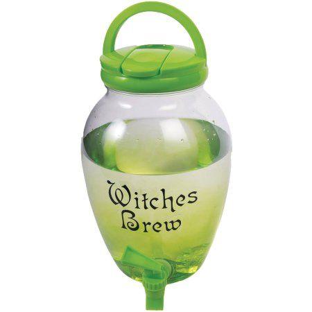 Witch\u0027s Drink Dispenser Halloween Decoration, Multicolor Drink - walmart halloween decorations