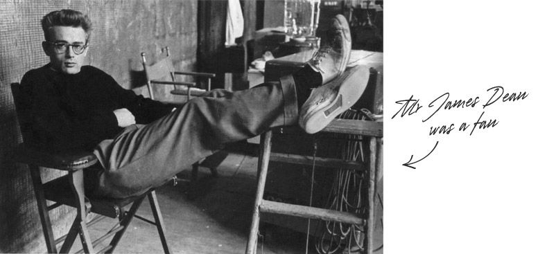 474d9e67ad740b James Dean wearing Chucks