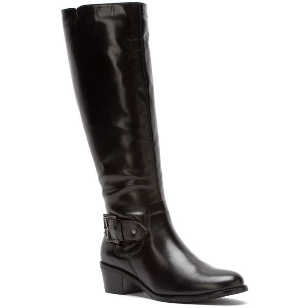 Walking Cradles Womens Black Boots Leather Chelsea Wide Shaft Antiqued
