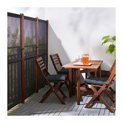 SLÄTTÖ Privacy screen, outdoor - black, brown stained #balconyprivacyscreen