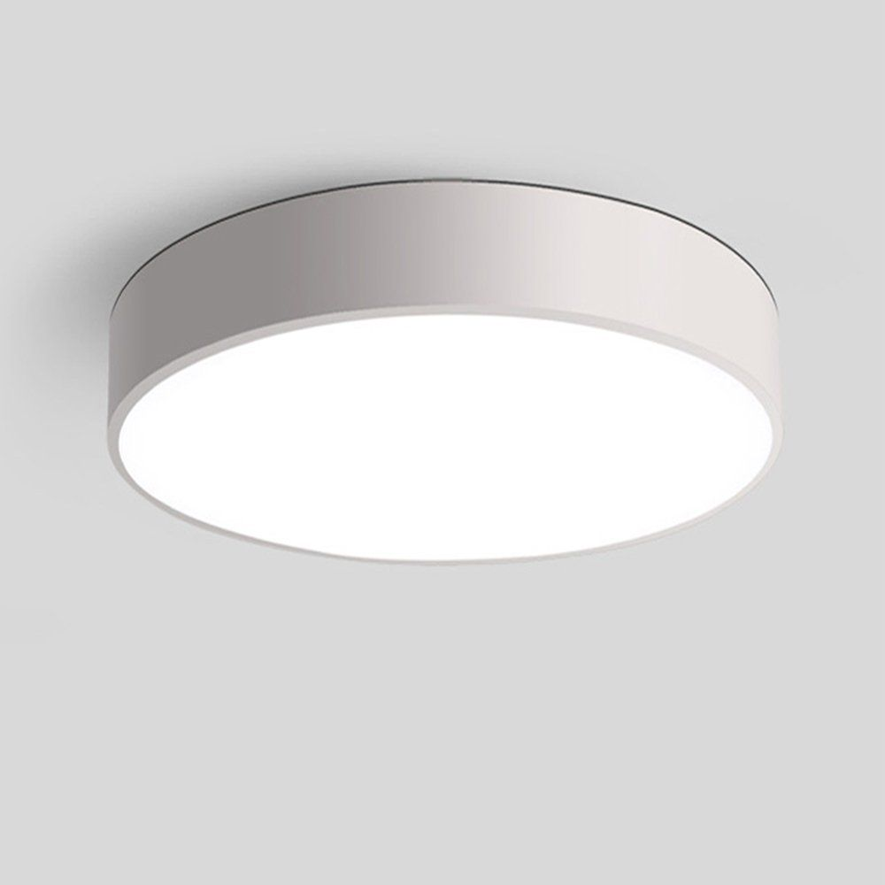 Lotedoor 10inch Flush Mount Ceiling Light 15w 1280 Lm 6000k Cool White Ceiling Light Fixture For Kitchen Di Flush Mount Ceiling Lights White Ceiling Light Lamp