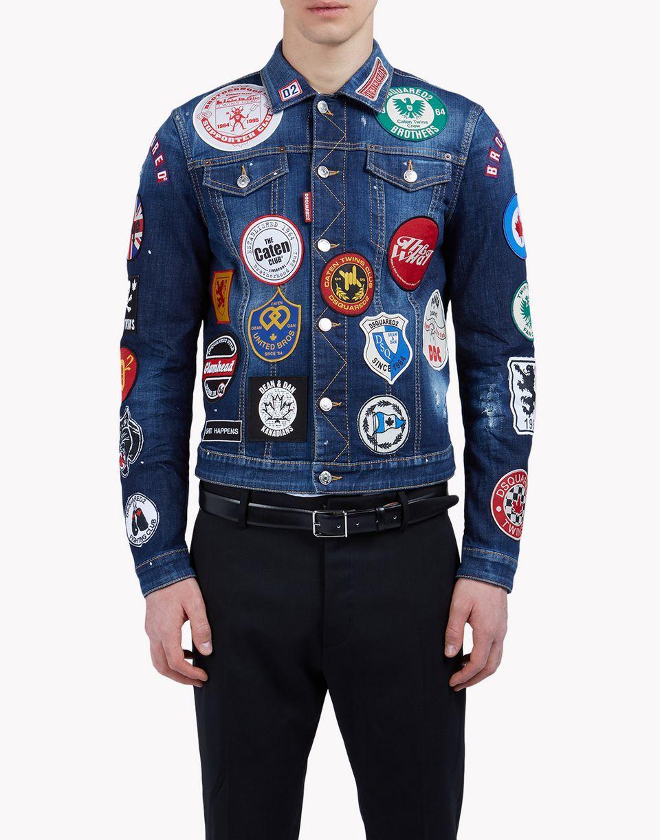 c9da9be1 patch jean jacket ropa de abrigo Hombre Dsquared2 | ropa JHS en 2019 ...