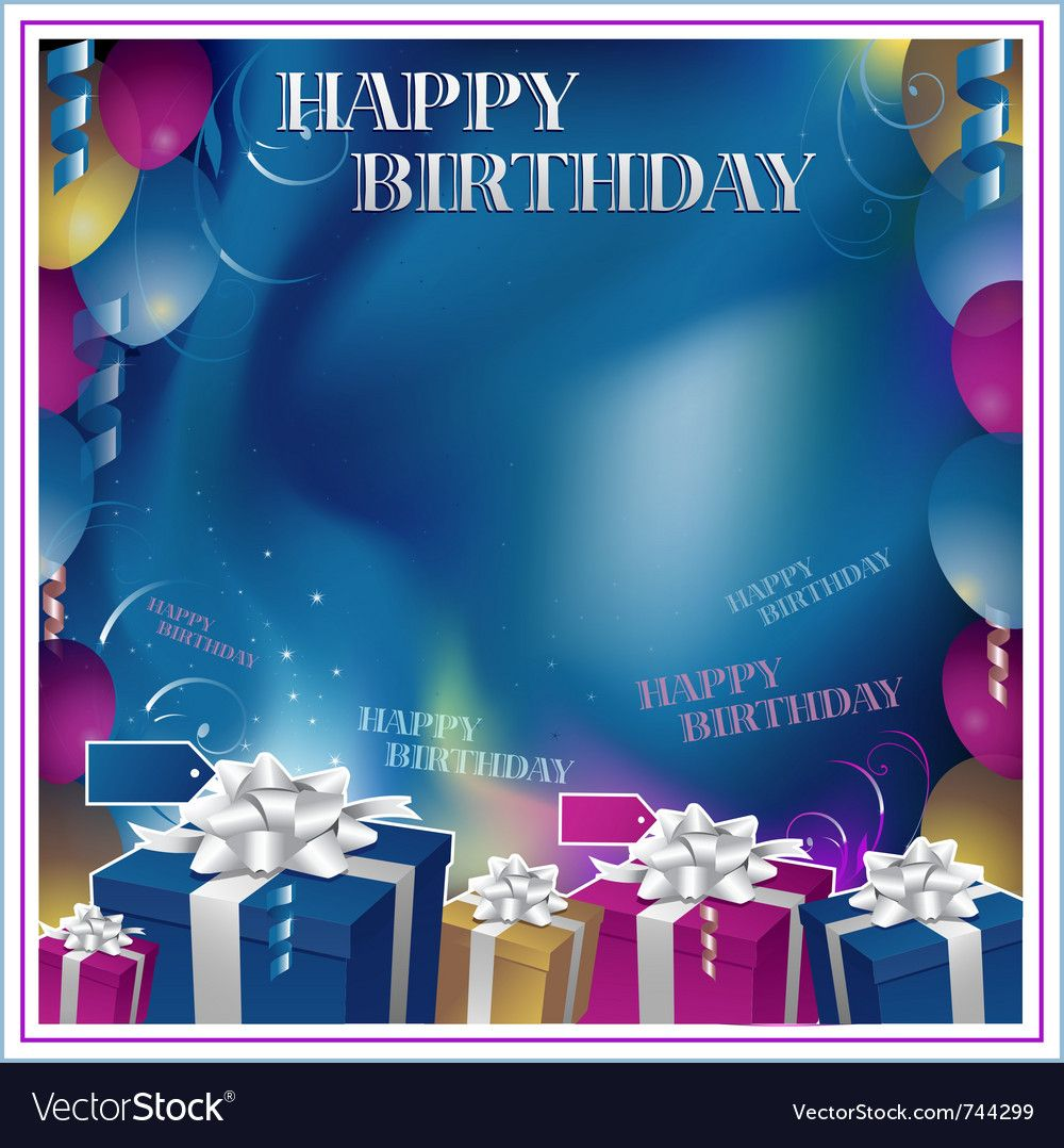 Happy Birthday Background Vector Image On Happy Birthday