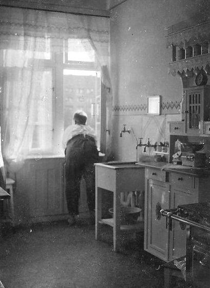 Germany 1930's kitchen interior Berlin apartment