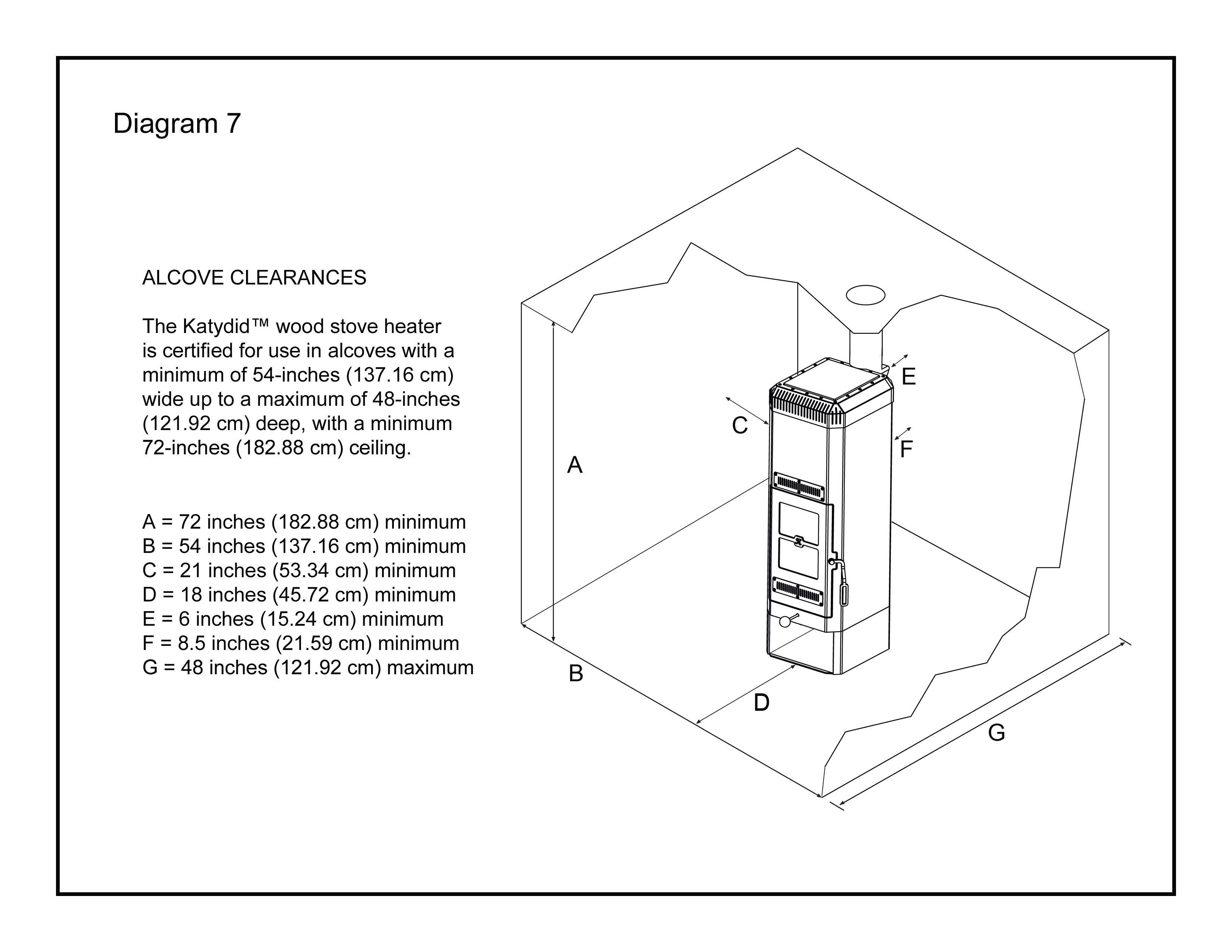 small resolution of katydid small wood burning stove installation diagram 7