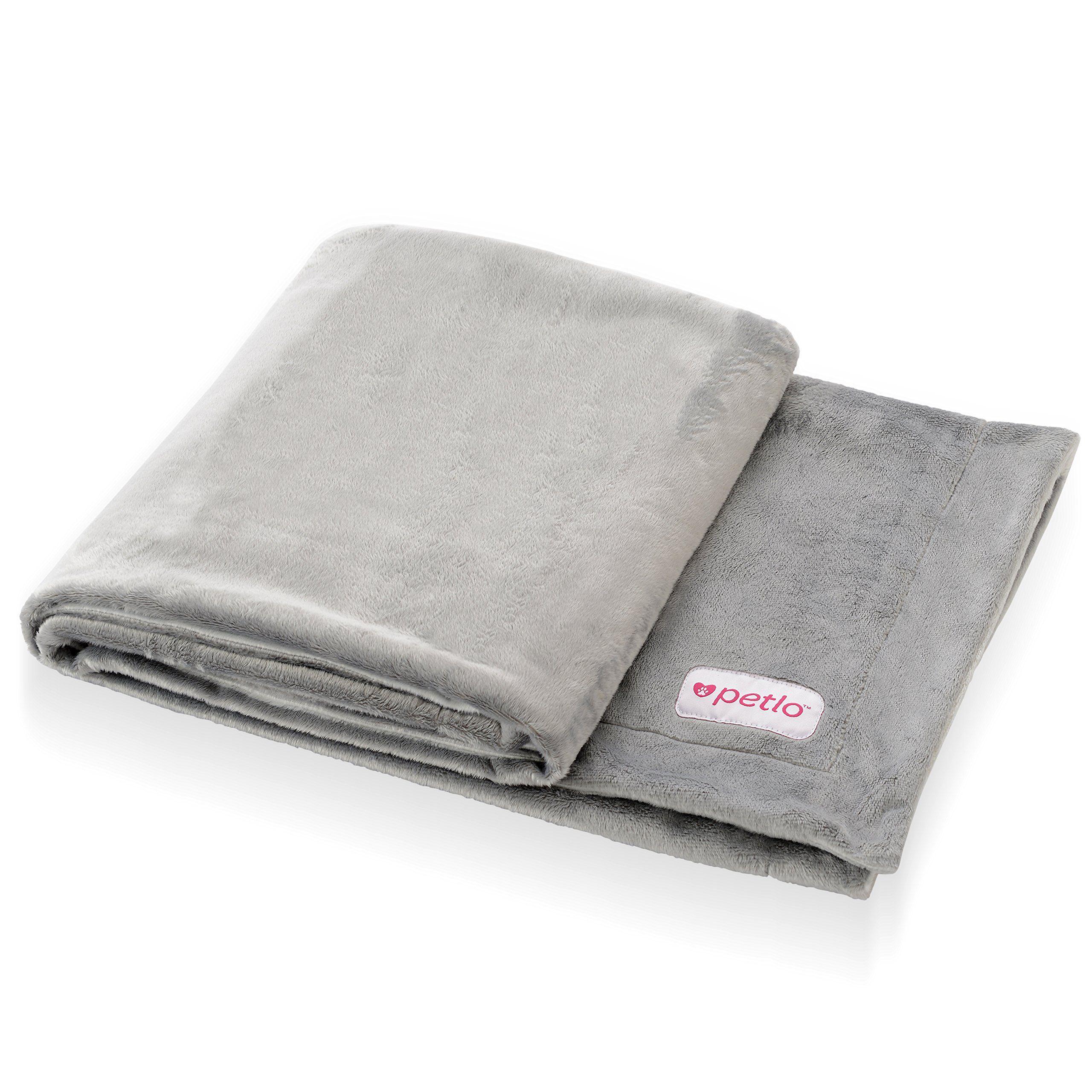 Soft Fleece Dog and Pet Blanket Extra Comfortable Reversible Velour