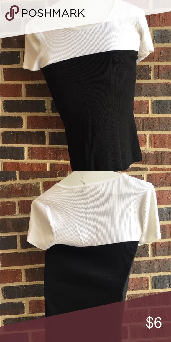 White And Black Dressy T Shirt White Top And Black Bottom T Shirt