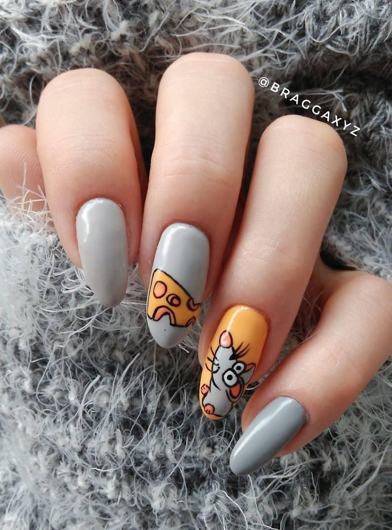 51 Cute Rat Nail Art Designs for Chinese New Year 2020 in