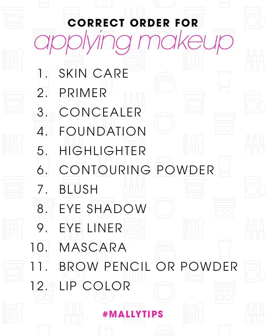 Makeup Order Order Of Makeup Application: You Know You've Always Wondered--what's Mally's Definitive